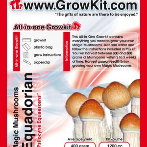 Growkit B+, for growing your own magic B+ mushrooms